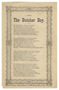 Early Publication of The Butcher Boy