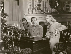 "Bing Crosby sings ""White Christmas"" in  Holiday Inn."